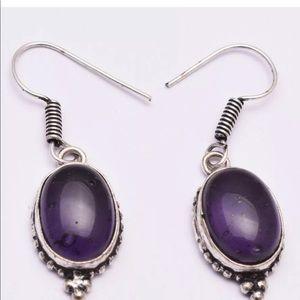Amethyst Earring Ethnic Jewelry Handmade